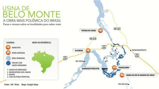O projeto da Usina de Belo Monte